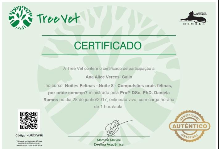 Certificado ompulsao Oral